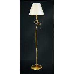 Lámpara de pie con pantalla clásica pan de oro PAOLA