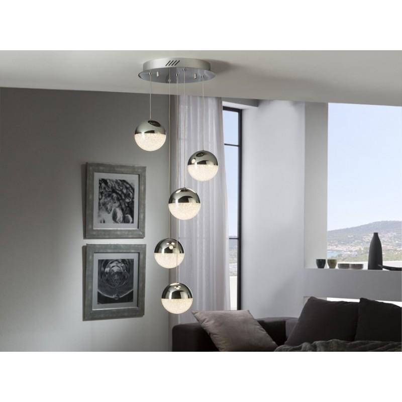 L mpara de techo colgante led sphere schuller valencia - Luces de techo led ...