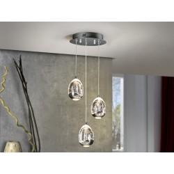 Lámpara de techo Led 3 luces Rocio(15W)