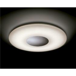 Plafón LED Reff blanco y cromo regulable (60W).