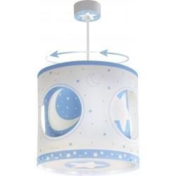 Lámpara colgante Lunas Azul circular