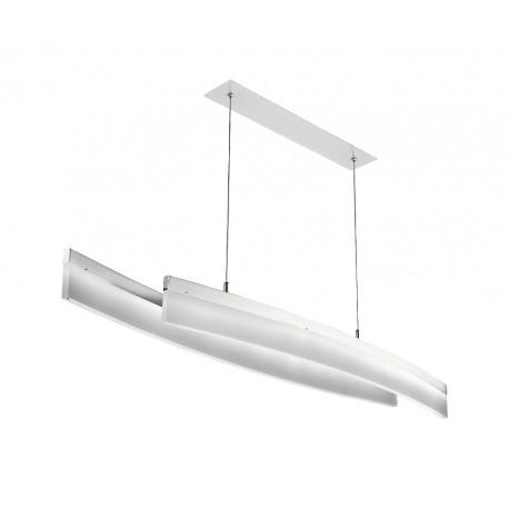 Lámpara de techo LED CURVE Niquel (42W)