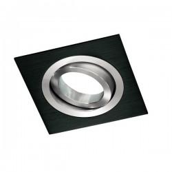 Kit Foco Aluminio-wengúe cuadrado (Foco+bombilla Led + portalámparas)