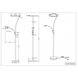Lámpara de pie Led CALGARY (30W)