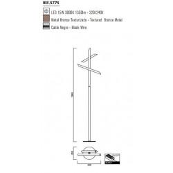 Lámpara de pie moderna TAKE 15W