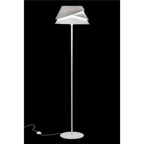 Lámpara de pie Led moderna con tulipa metálica