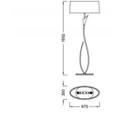 Lámpara de pie con pantalla rústico LUA