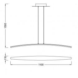 Lámpara de techo Led HEMISFERIC (28W)