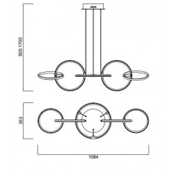 Lámpara de techo Led AROS (59W)