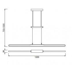 Lámpara de techo Led ZURICH (43W)