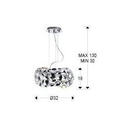 Lámpara colgante Led (18W)NARISA