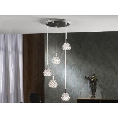 Lámpara colgante Hestia 5 luces