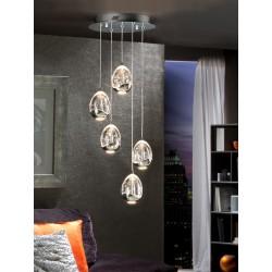 Lámpara de techo Led Rocio 5 luces (25W)