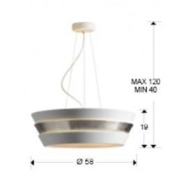 Lámpara de techo ISIS (60W)