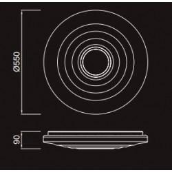 Plafón de techo LED (60W) con mando a distancia ONDAS MUSIC