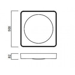 Plafón de techo Led MALE (24W)