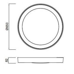 Plafón Led MALE (40W)Circular