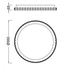 Plafón de techo Crystal Led (44W) Circular