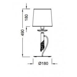 Lámpara de sobremesa TIFFANY Cromo brillo