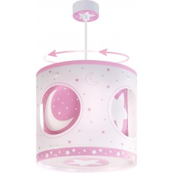 Lámpara colgante Lunas Rosa circular