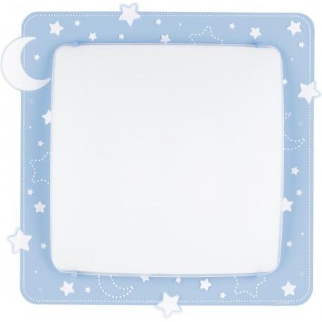 Plafón de techo infantil Lunas y estrellas Azul