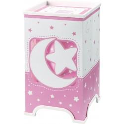 Sobremesa infantil Lunas y estrellas Rosa