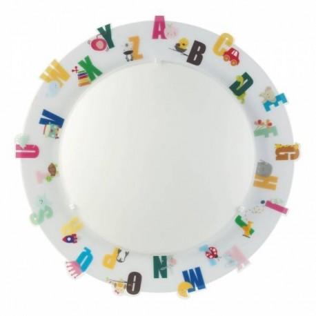 Plafón de techo infantil ABC