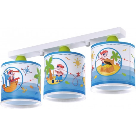 Lámpara infantil 3 luces PIRATE