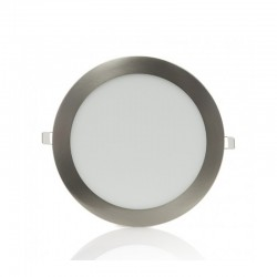 Downlight Led redondo 18W Níquel Satinado