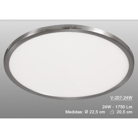 Downlight Redondo Led 24W Níquel