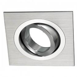 Foco Empotrable Aluminio Cuadrado