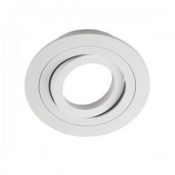 Foco empotrable Aluminio redondo Blanco mate