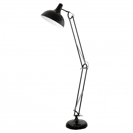 Lámpara de pie BORGILLIO negro