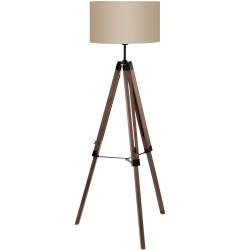 Lámpara de pie tripode en madera LANTADA