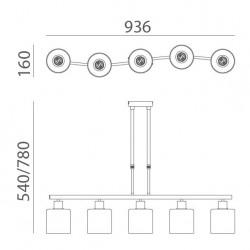 Lámpara de techo NEO (5 luces)