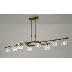 Lámpara de techo Zen 8 luces Cuero envejecido