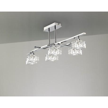 Plafón de techo Zen 6 luces cromo brillo