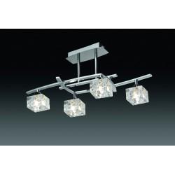 Plafón de techo Zen 4 luces Cromo brillo