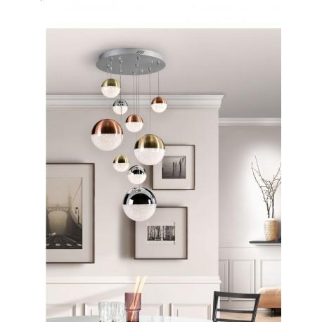 Lámpara de techo Sphere 9 luces combinada