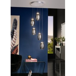 Lámpara de techo Nébula 5 luces ( 25W LED)