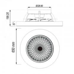 Ventilador de techo TIBET DC + mando para regular la luz y las velocidades. APP incluida