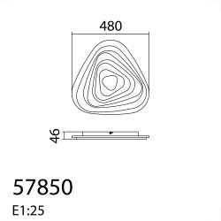 Plafón de techo Led SULFI (58W)