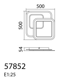 Plafón de techo Led PLUNI (65W)