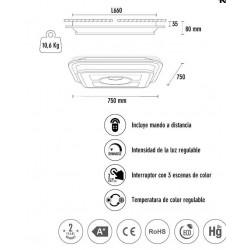 Plafón de techo Led CLOSER (140W)