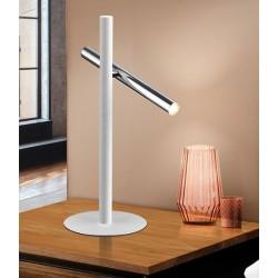 Lámpara de sobremesa Led VARAS (10W) Blanco y Cromo