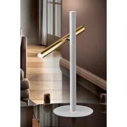 Lámpara de sobremesa Led Varas (10W) Blanco y Oro