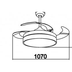 Ventilador de techo aspas recogidas LED ( 47W)