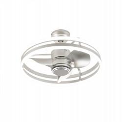 Ventilador de techo ORBITA PLATA. Motor DC con iluminación Led de 70W