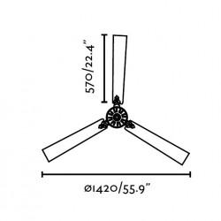 Ventilador de techo sin luz AOBA